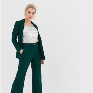 Y.A.S. Petite green Blazer and Pant suit set